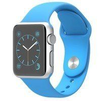 Умные часы Apple Watch Sport 38mm Silver Aluminum Case with Sport Band (blue)