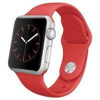 Умные часы Apple Watch Sport 42mm Silver Aluminum with Sport Band (red)