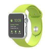 Умные часы Apple Watch Sport 42mm Silver Aluminum Case with Sport Band (green)