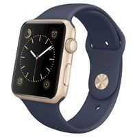 Умные часы Apple Watch Sport 42mm GOLD Aluminum Case with Sport Band (midnight blue) CPO