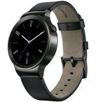 Умные часы Huawei Watch Black Stainless Steel with Black Leather Strap