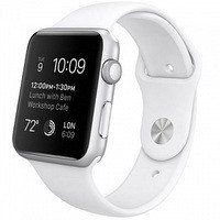 Умные часы Apple Watch Sport 42mm Silver Aluminum Case with Sport Band (white)