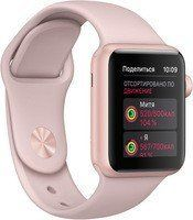Умные часы Apple Watch Series 1 38mm Rose Gold Aluminum Case with Pink Sand Sport Band (MNNH2)