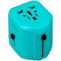 Сетевое з/у MOMAX 1 World USB Travel Adapter AC port (UK/EU/US/JP/CN/AU) Blue (UA1B2)