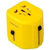 Сетевое з/у MOMAX 1 World USB Travel Adapter AC port (UK/EU/US/JP/CN/AU) Yellow (UA1Y)